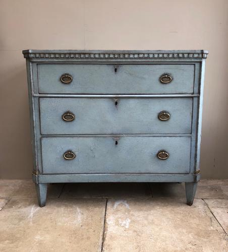 Antique Swedish Gustavian Style Chest of Three Drawers