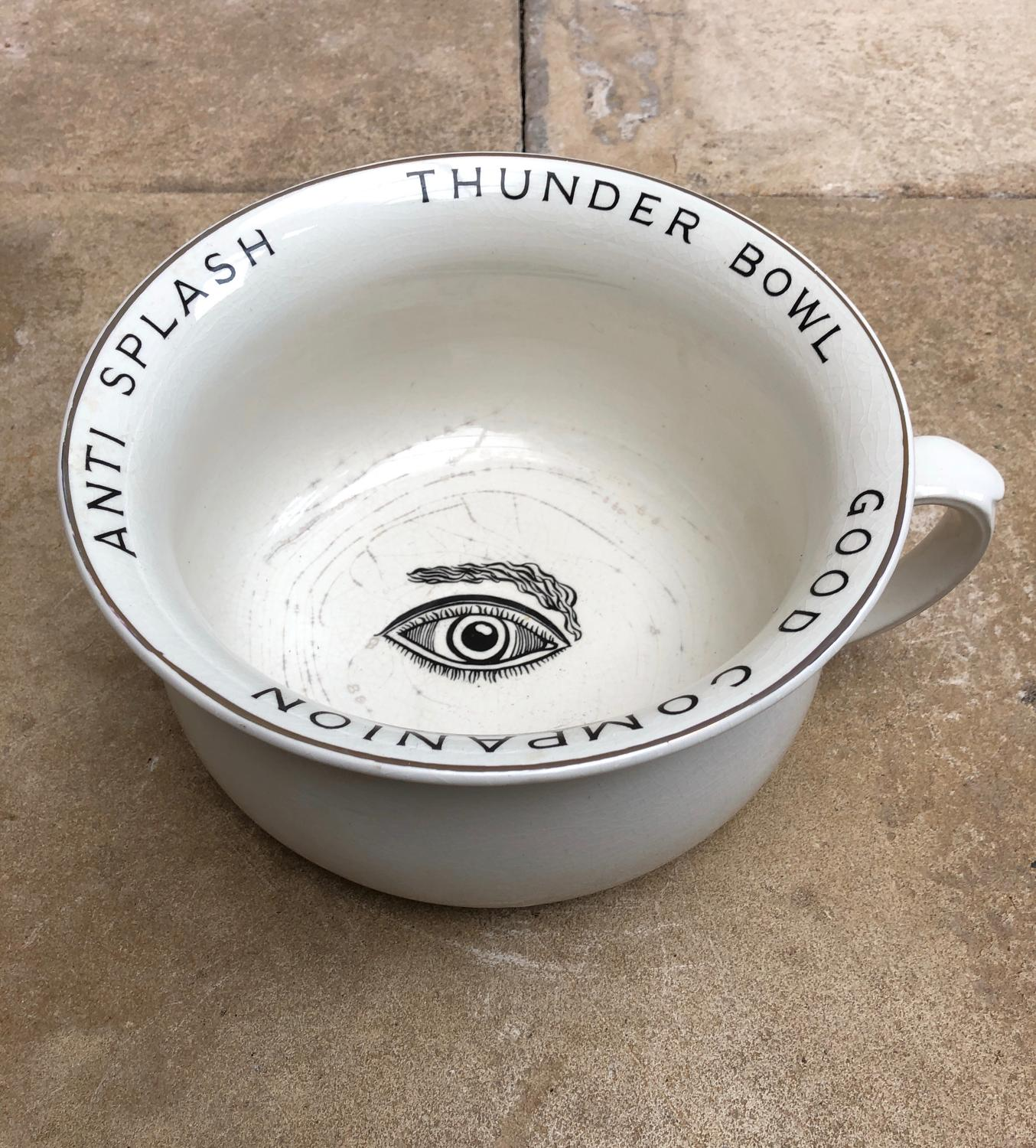 Early 20th Century Rare White Arthur Woods Eye Potty c.1900