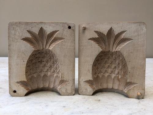Rare Large Victorian Treen Butter Mould - 3D Lucky Pineapple