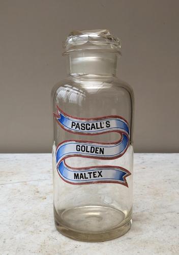 Late Victorian Shops Glass Sweet Jar - Pascalls