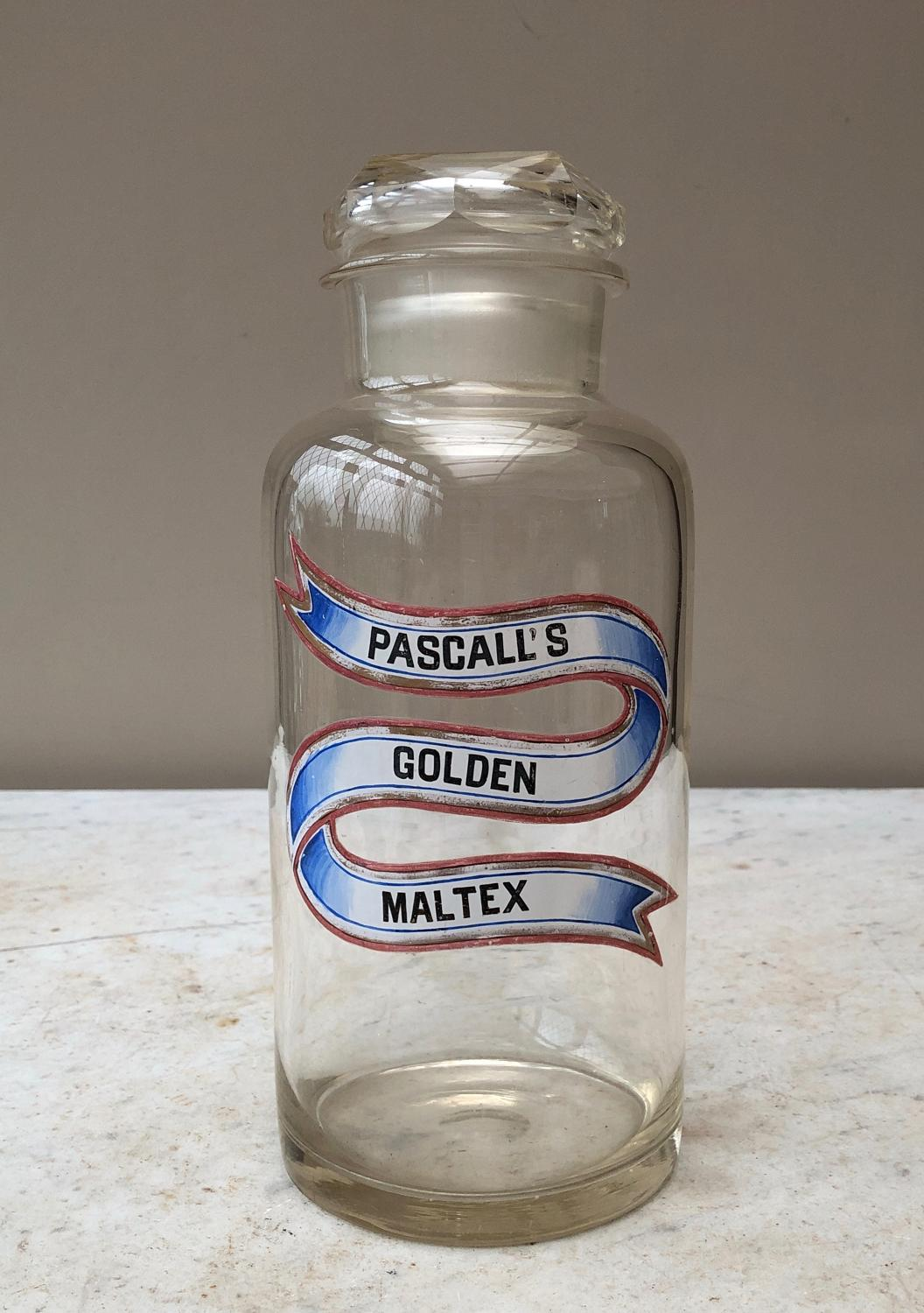 Late Victorian Shops Glass Sweet Jar - Pascalls