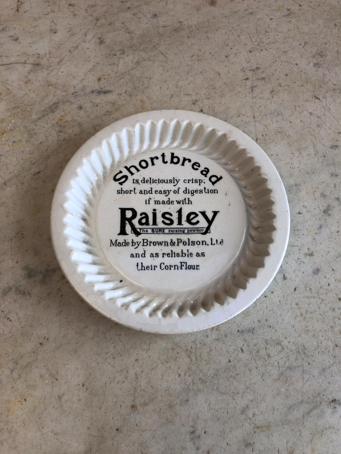Antique Advertising Shortbread Mould - Raisley Raising Powder
