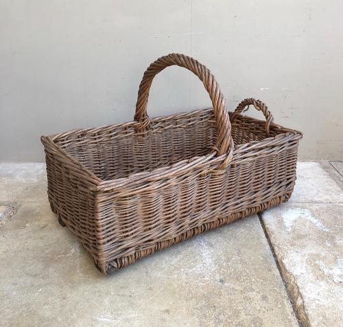 Edwardian Bakers Basket - Wooden Slat Base
