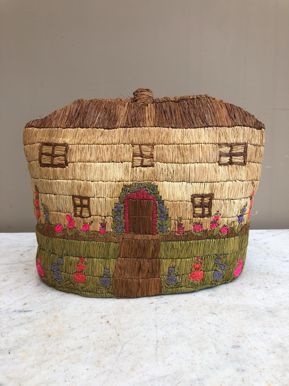 Early 20th Century Stitched House Tea Cosy