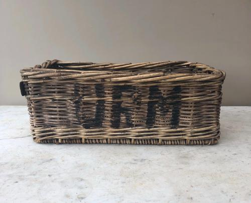 Edwardian Unusual Small Size Shops Display Basket