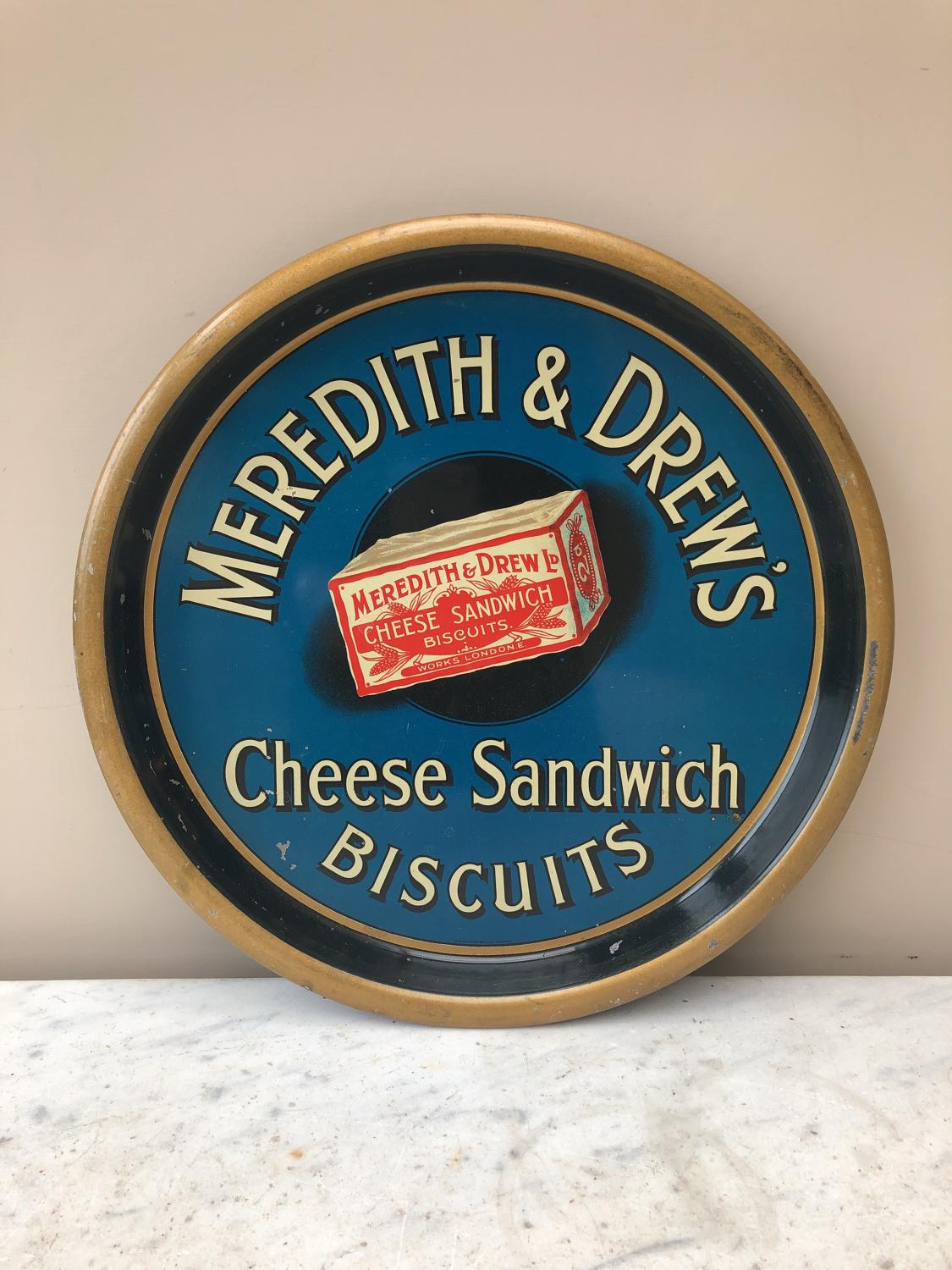 Rare Early 20th Century Advertising Tray - Meredith & Drew