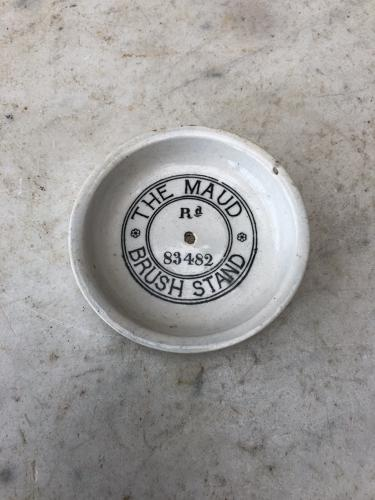 Edwardian White Ironstone Advertising Stand - Perfect for Tea Light