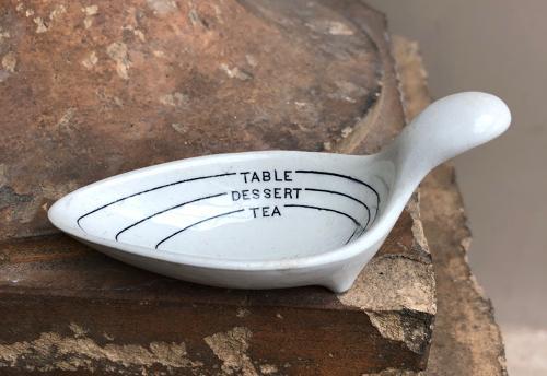 Edwardian Table, Dessert & Tea Spoon Measure.