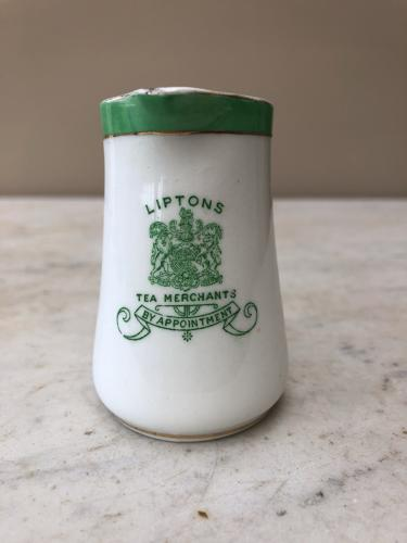 Antique Small Advertising Jug - Liptons Tea Merchants By Appointment