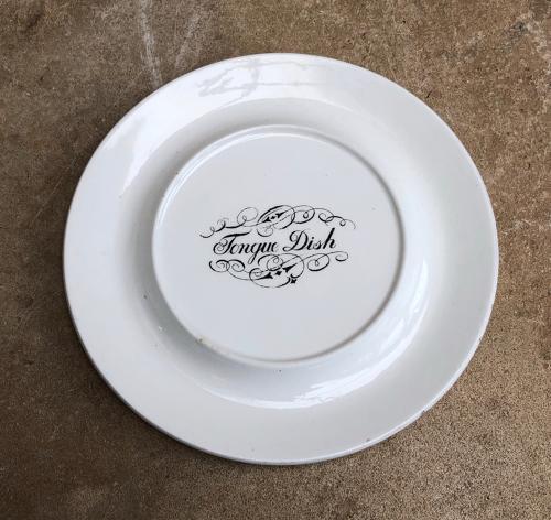 Edwardian White Ironstone Tongue Dish