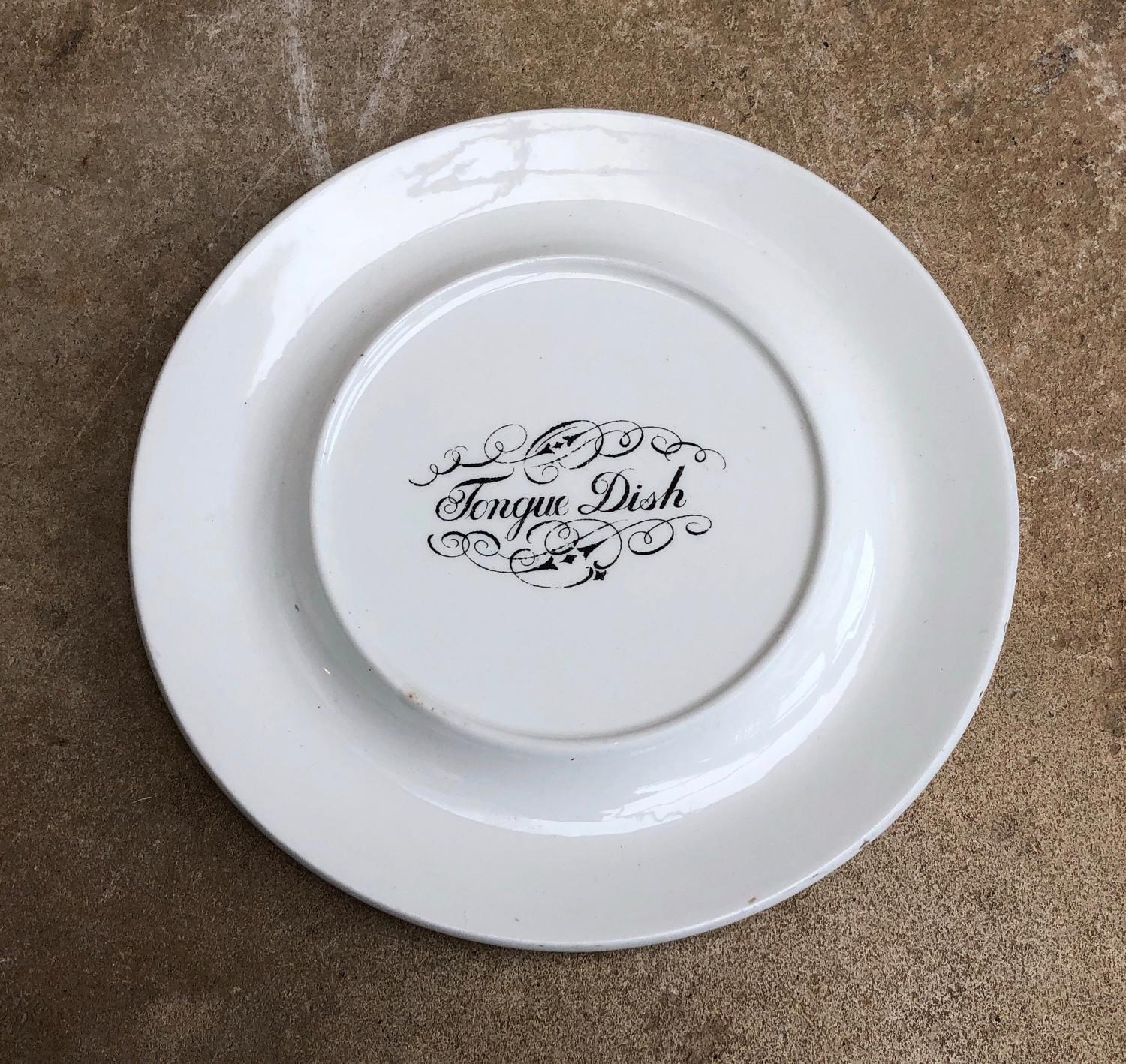 Edwardian White Ironstone Tongue Dish
