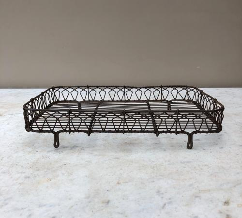 Late Victorian Ornate Wire Work Cake Cooling Rack