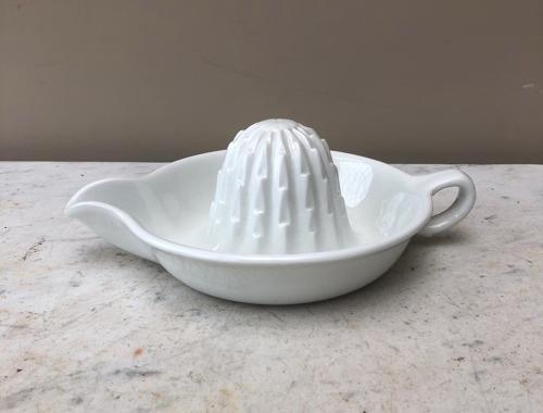 Early 20th Century Maling White Ironstone Grapefruit Squeezer