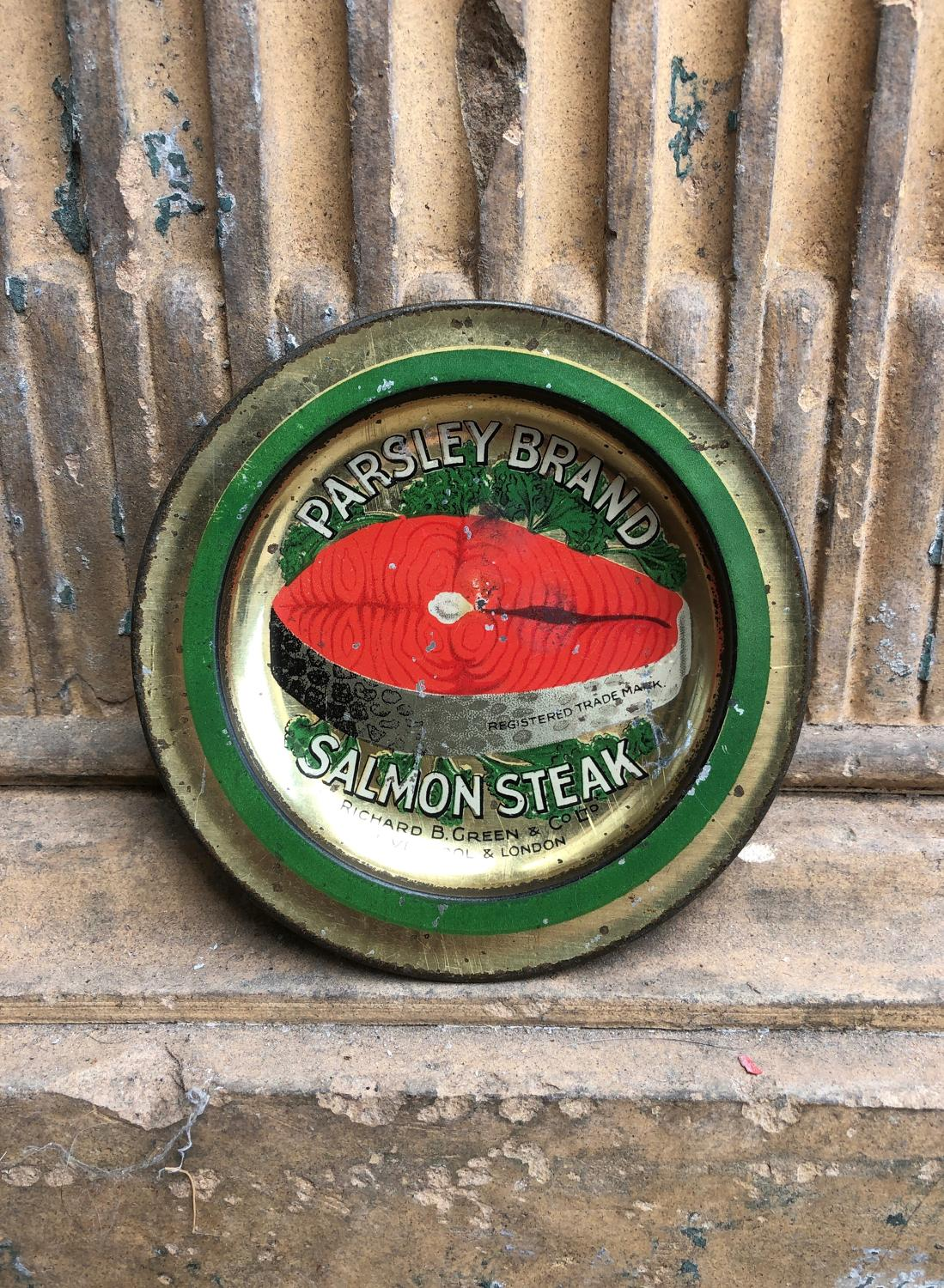 Early 20thC Shops Advertising Change Tray - Parsley Brand Salmon