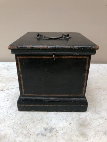 Small Early Victorian Pine Box in Wonderful Original Paint