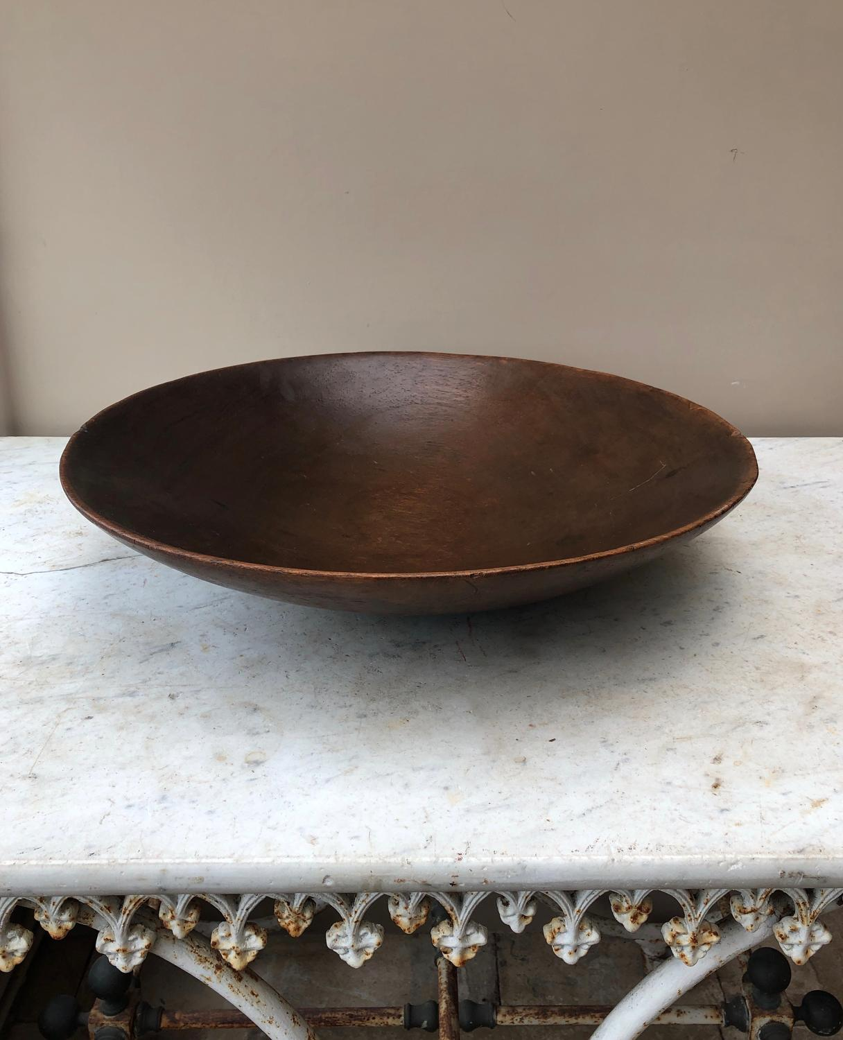 Huge Victorian Sycamore Dairy Bowl