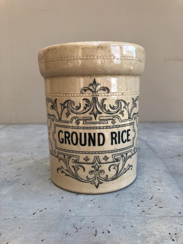 Rare Victorian Ornate Earthenware Kitchen Storage Jar - Ground