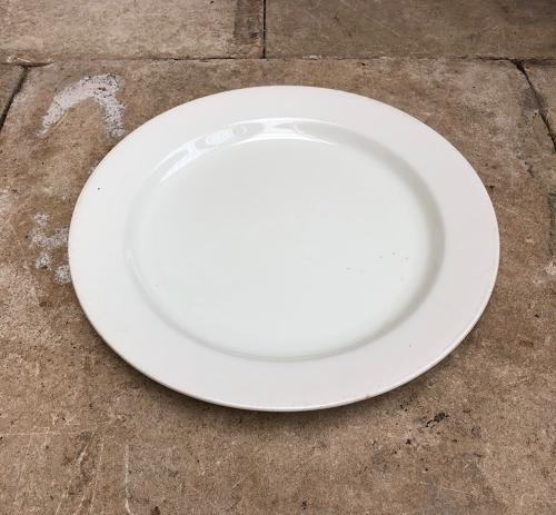 Huge Early 20thC White Ironstone Serving, Cheese or Cake Plate