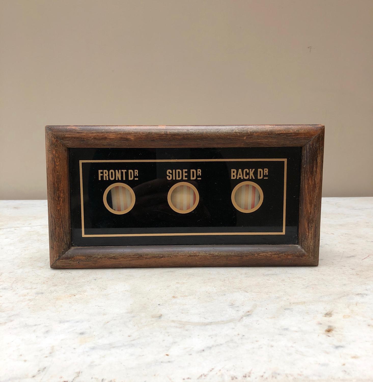 Antique Servants Bell Box - Front, Side & Back Door.