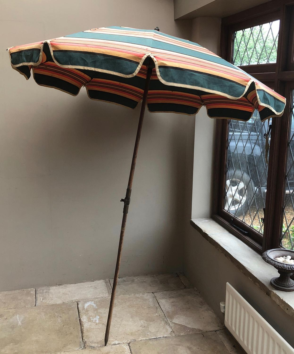 Superb Antique Travelling Garden or Beach Parasol