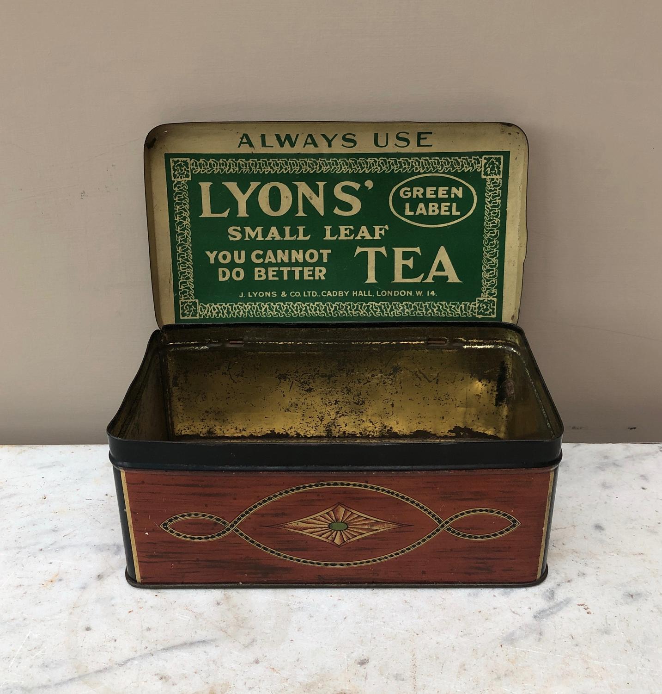 Early 20th Century Advertising Tea Caddy Tin
