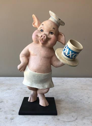 1950s Wonderful Butchers Display Pig - Paxo Pot