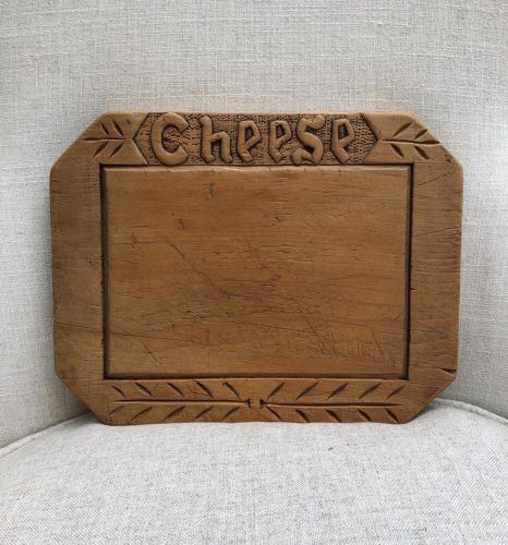 Early 20th Century Carved Cheese Board