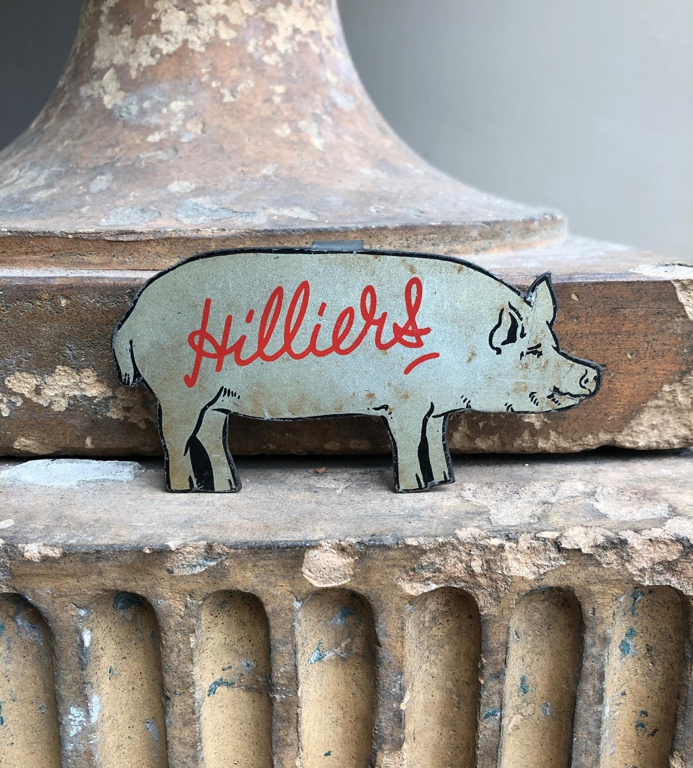 Small Mid Century Hilliers Bacon Advertising Pig