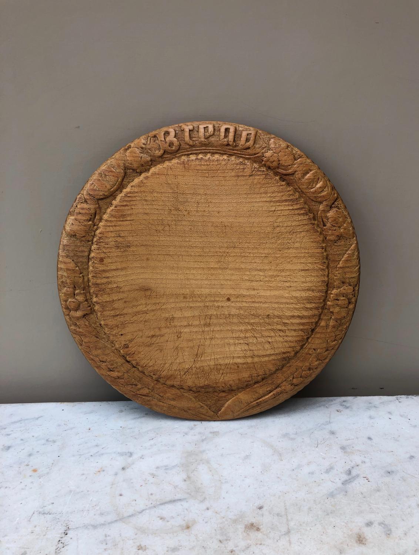 Victorian Carved Treen Bread Board