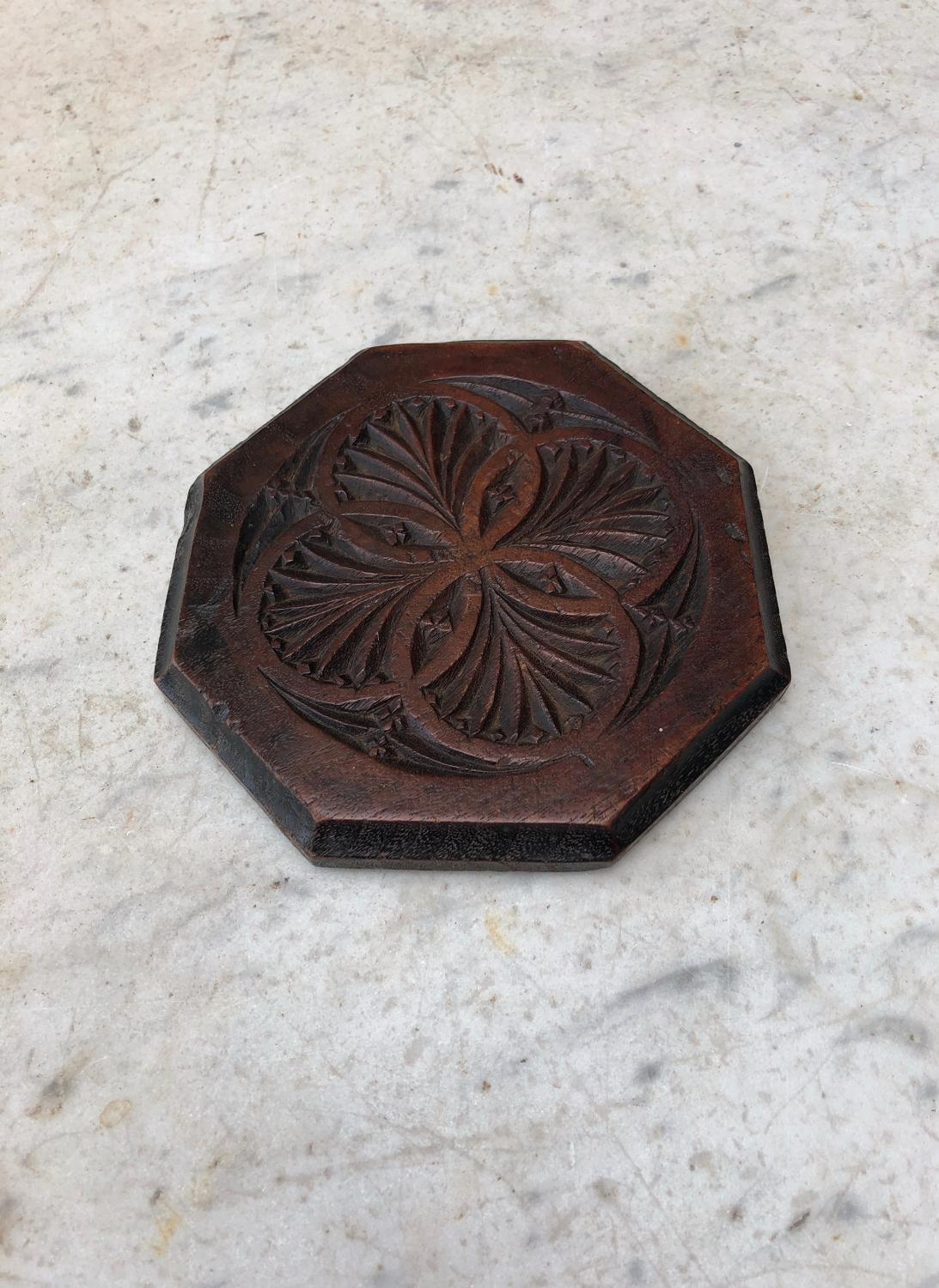 Late Victorian Welsh Carved Treen Tea Pot Stand