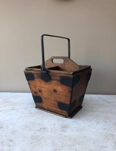 Late Victorian Pine Maids Tidy with Inner Tray