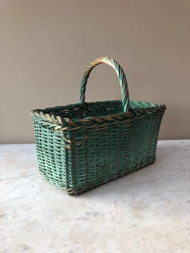 Early 20th Century Basket in Original Paint