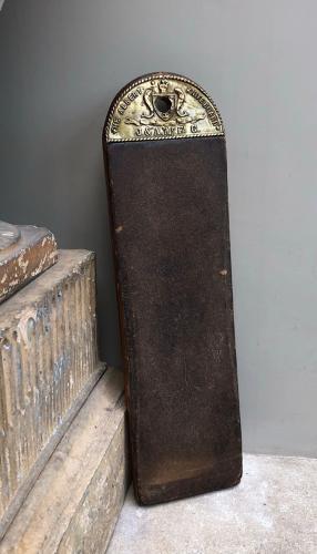 Late Victorian Albert Knife Board - Lovely Brass Top