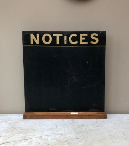 Mid Century Notices Board with Chalk Shelf - Memo or Specials Board