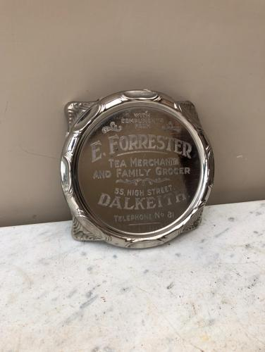 Early 20thC Advertising Teapot Stand - E Forrester Tea Merchant & Fami