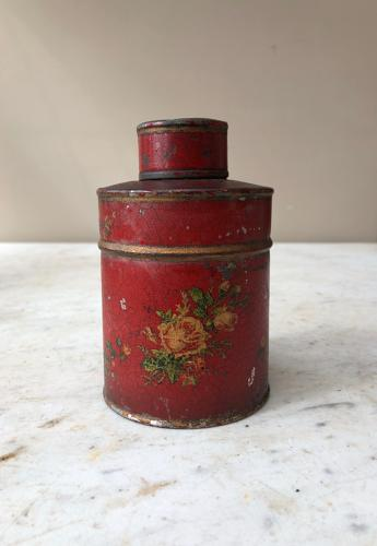 Early 20th Century Toleware Tea Caddy