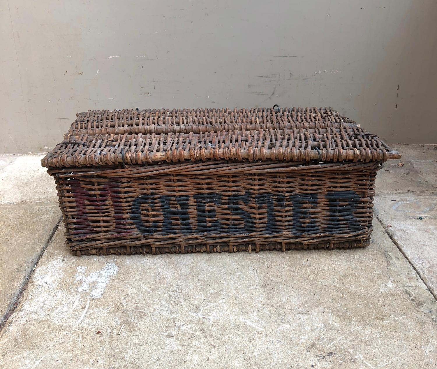Early 20thC Bakers Basket - E Holbrook Manchester