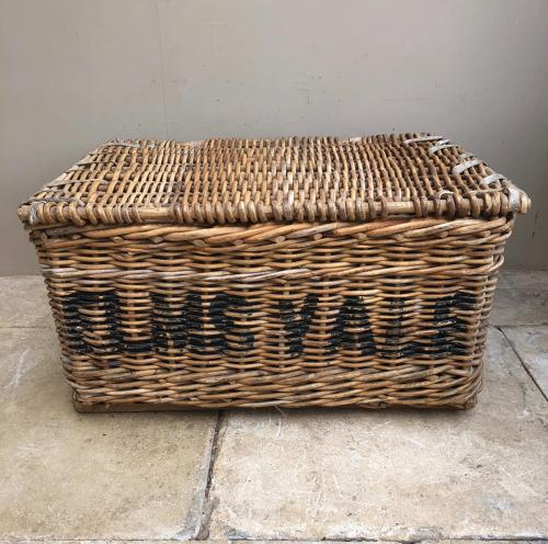 Large Antique Laundry Basket - Elmsvale Dover