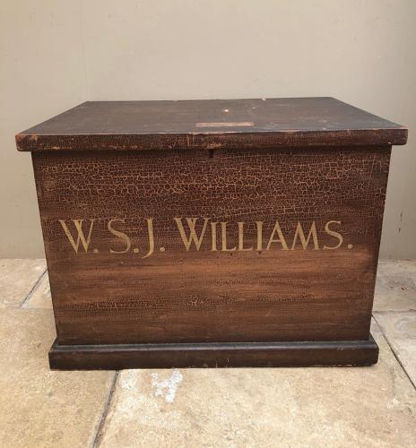Victorian Pine Chest in Fantastic Original Paint - WSJ Williams
