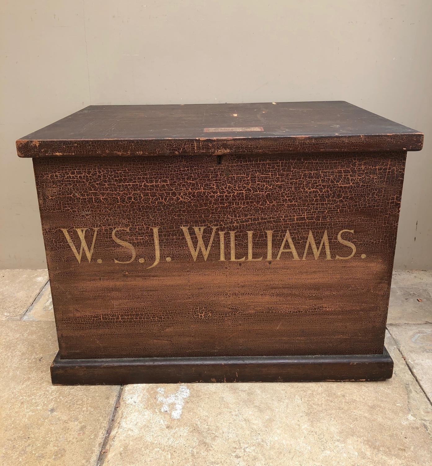 Victorian Pine Chest in Fantastic Original Paint - WSJ Williams