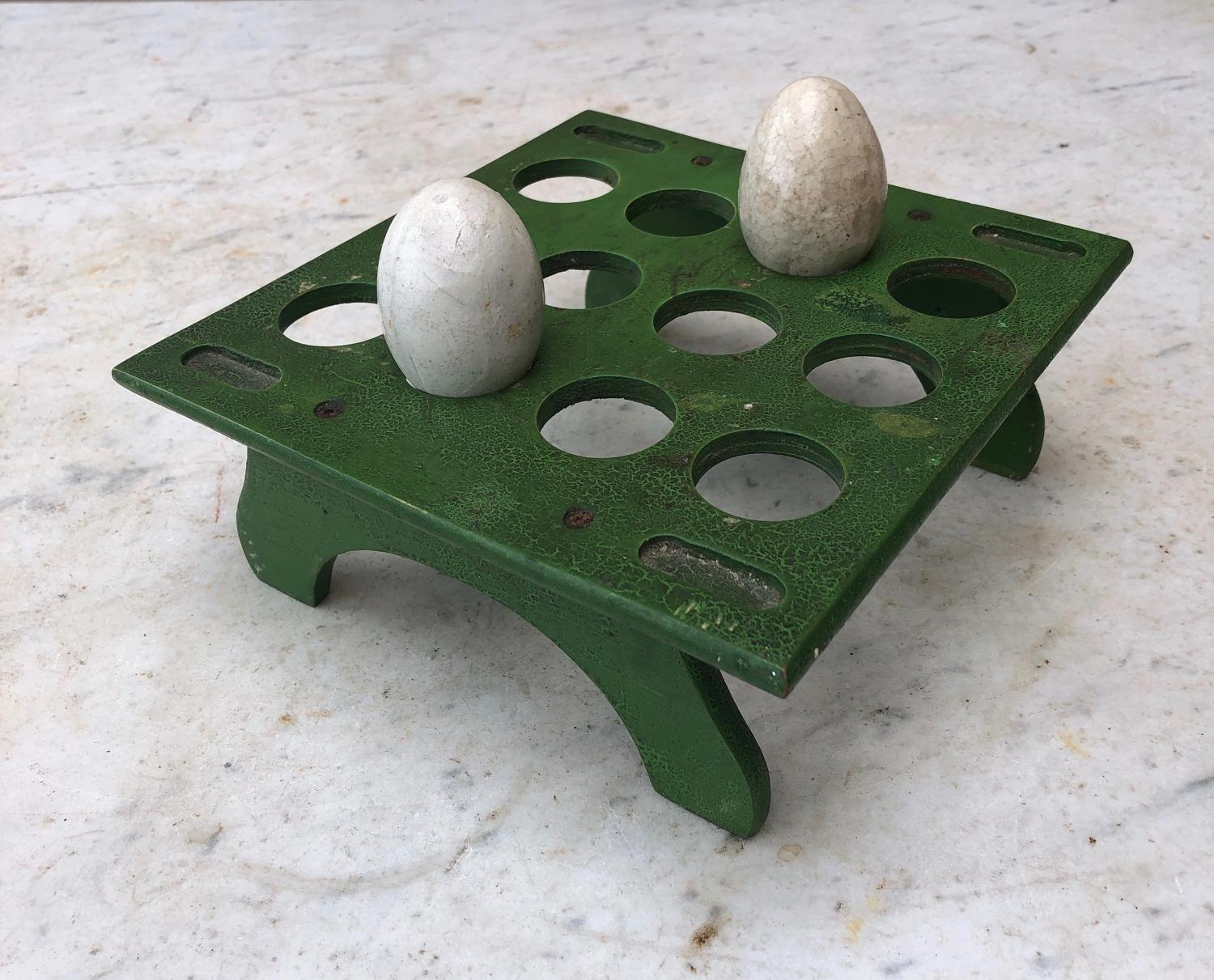 Late Victorian Egg Rack in Fantastic Original Paint