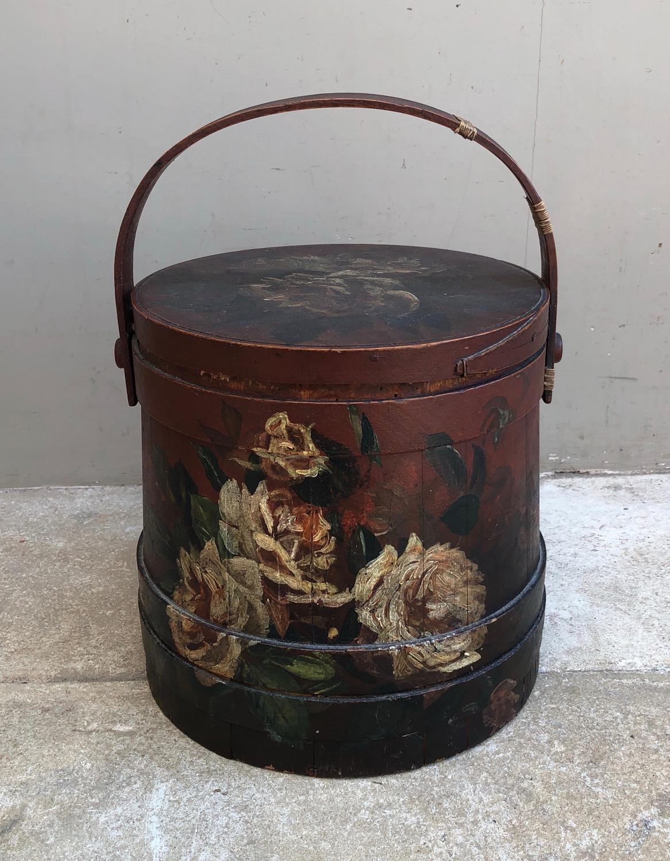 Late Victorian Firkin - Flour Barrel - Wonderful Original Paint