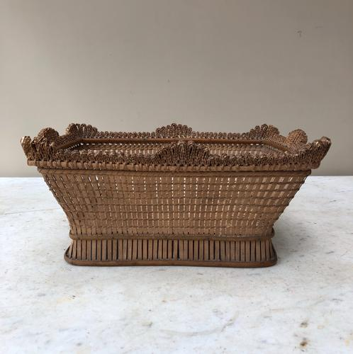 Early 20th Century Intricate Bread Basket