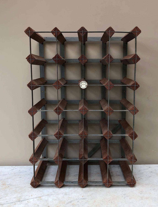 Mid Century Wine Rack for 24 Bottles - Farrow & Jackson London