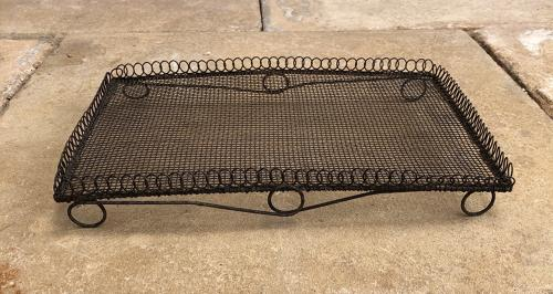 Victorian Loop Top Wire Work Cake Cooling Rack Tray