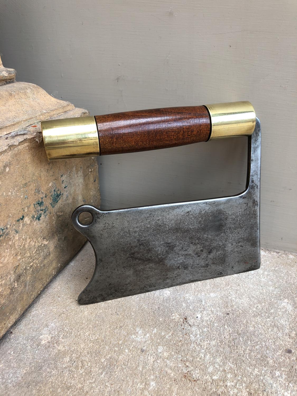 Quality Victorian Brass & Steel Herb Chopper