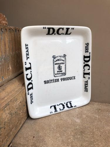 Early 20th Century Grocers Advertising Display Plate - DCL Yeast