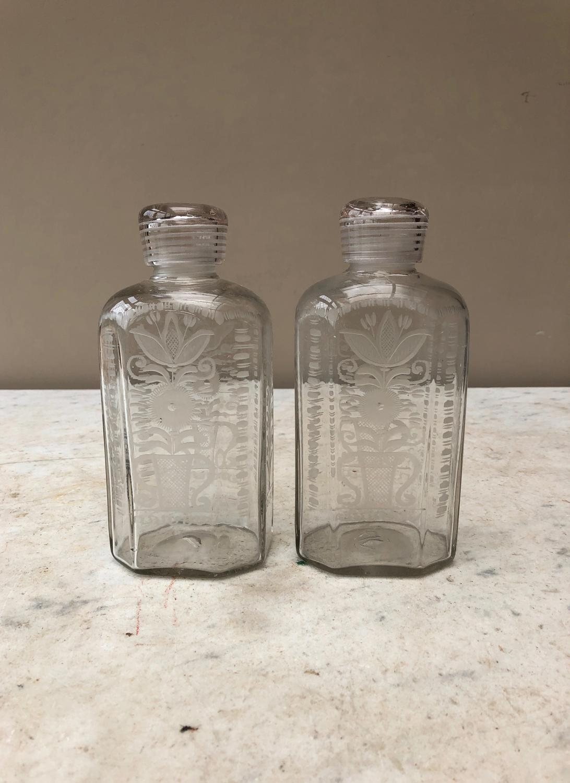 Pair of Georgian Flemish Bottles in Wonderful Condition