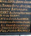 Victorian Painted Pine Sign - Tenants Regulations - picture 4