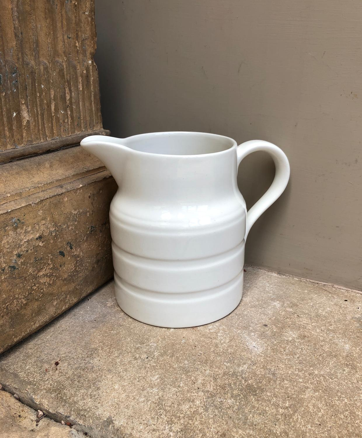 Early 20th Century White Banded Milk Jug - Lord Nelson